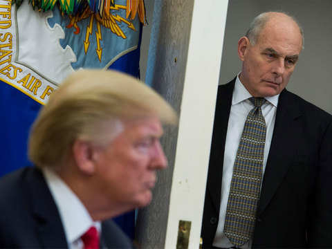 Donald Trump says chief of staff John Kelly leaving at year's end