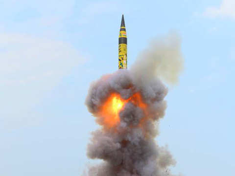 India test fires nuclear capable Agni-5 missile, 2nd test in six months