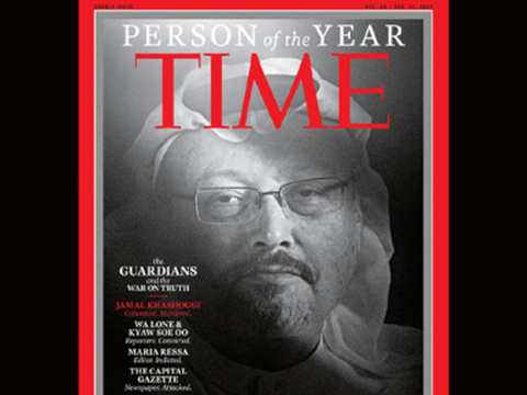 Jamal Khashoggi named TIME magazine's 'Person of the Year', along with other persecuted journalists