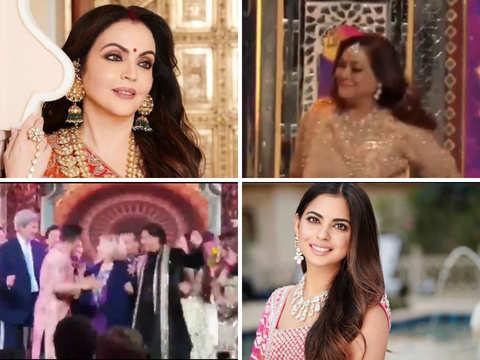 Nita Ambani dances with Tina at Isha's sangeet; Hillary Clinton shakes a leg with SRK
