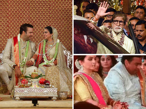 Mukesh, Nita Ambani get emotional at Isha's wedding as Lata Mangeshkar records rendition of 'Gayatri Mantra', Big B gives speech