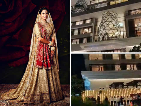 Newly-weds Isha, Anand host first reception at their new 50,000 sq ft home, 'Gulita'