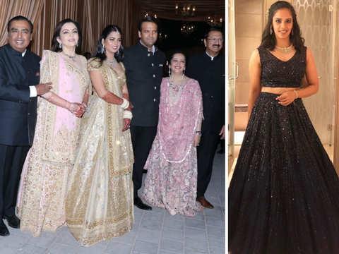 Isha-Anand reception: Nita Ambani, Swati Piramal twin in pink; newly-wed Saina Nehwal among guests