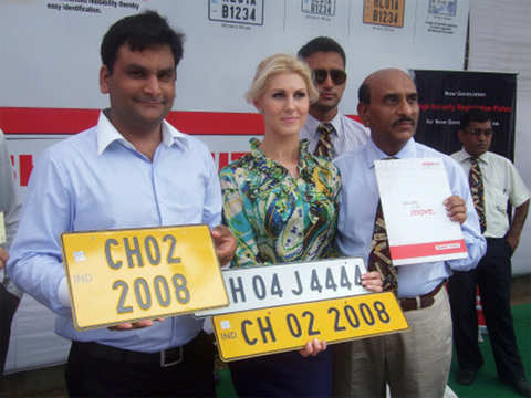 All vehicles to come fitted with high security number plates from April 1