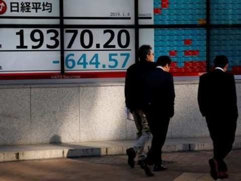 Nikkei: Nikkei hits 20-month low after Wall Street slides on