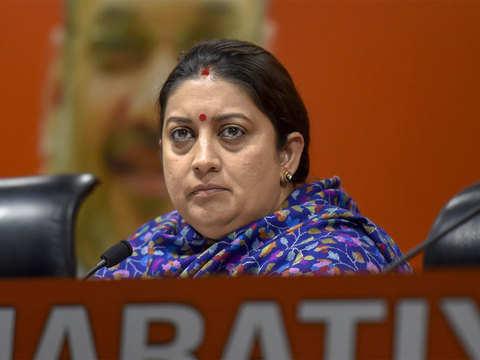 Smriti Irani BJP's key face to take on opposition?
