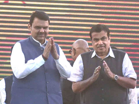 Nitin Gadkari, Devendra Fadnavis lay foundation stone for Rs 1,183 crore road project in Maharashtra