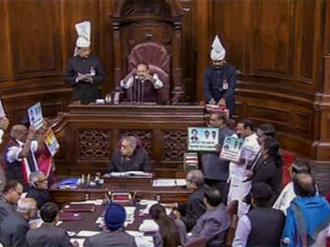 Rajya Sabha disrupted for sixth day