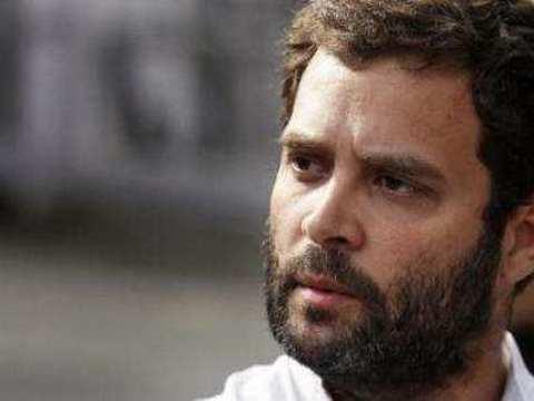 Rahul Gandhi pays tributes to slain CRPF soldiers at Delhi airport