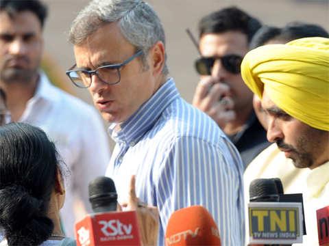 Omar Abdullah meets Rajnath Singh , urges to ensure safety of Kashmiri students, traders