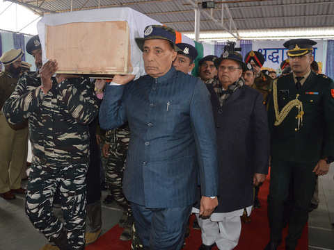 Pakistan patronising terrorism, Pulwama attack an act of frustration: Rajnath Singh