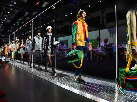Italian fashion brand United Colors of Benetton makes colourful debut at Milan Fashion Week