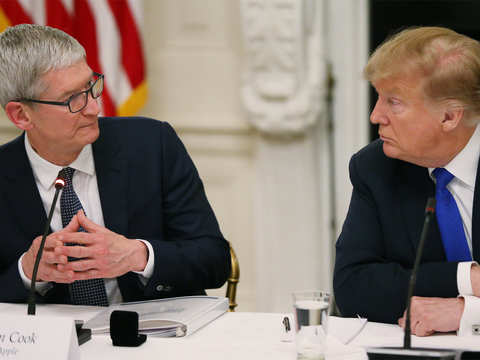 Tim Apple, who? When Donald Trump forgot the Apple CEO's name