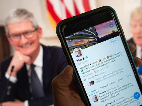 Meet Tim Apple: Tech giant's CEO changes Twitter username; logo only visible to iOS users