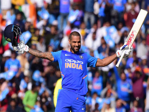 India scores 358/9 in fourth ODI against Australia, Dhawan scores a ton