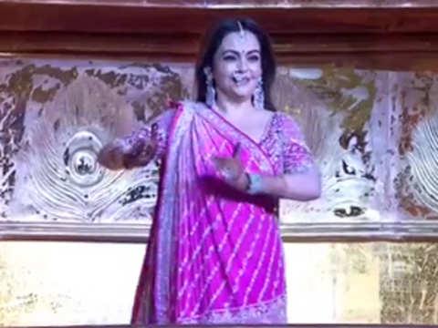 Akash-Shloka wedding: Nita Ambani performs Krishna Bhajan
