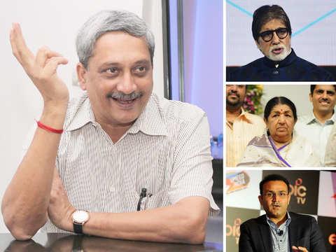 #RIPManoharParrikar: Big B, Lata, Sehwag pay tribute to Goa CM on Twitter