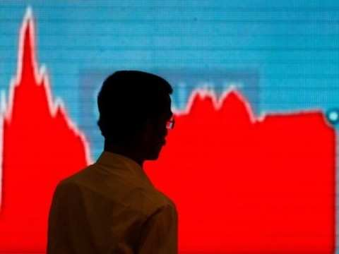 Sensex snaps eight-day winning run, down 222 pts