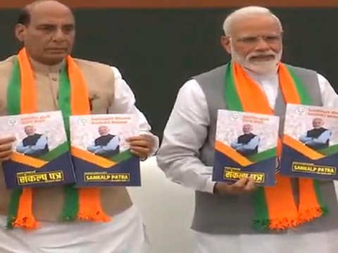 No big-bang poll-time sop in BJP's manifesto for 2019