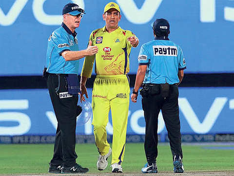 For MS Dhoni to storm onto the field and berate the umpires was just plain wrong