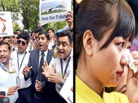 Behind on EMIs, school fees, staff demand Jet's revival