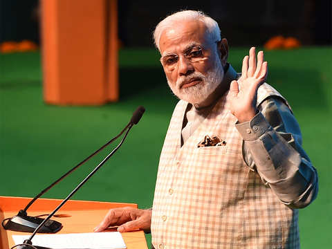 PM Modi says traders to get 50-lakh loan without collateral, credit card, pension if NDA re-elected