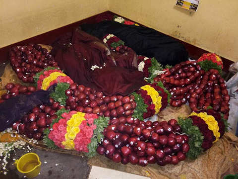 This Lok Sabha election, mega garlands made from apple, almond and raisins are in vogue