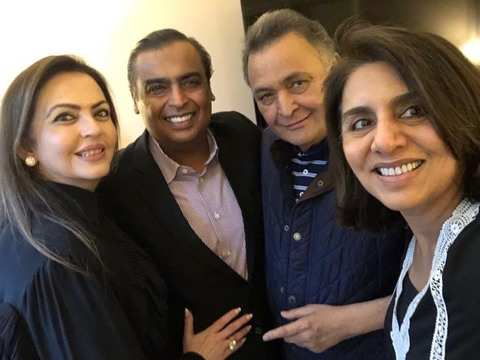 Ambanis visit Rishi Kapoor in New York, actor thanks them for love & support
