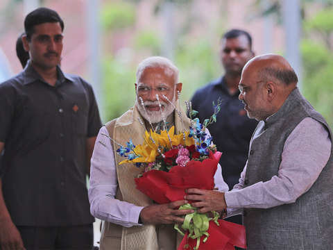Narendra Modi, Amit Shah meet Union ministers to thank them for 'service to nation'