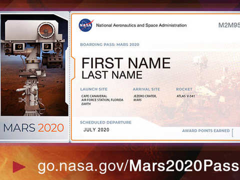 Send your name here to fly aboard NASA's next Mars rover in 2020