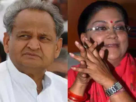Vasundhara Raje and Ashok Gehlot travel in same flight, but don't talk to each other