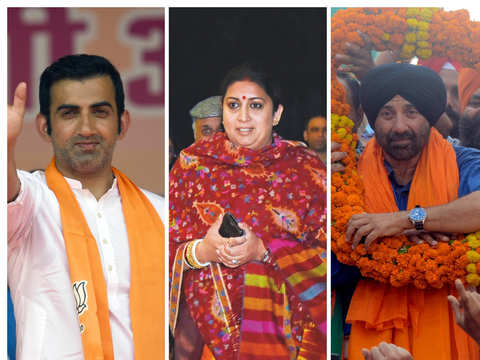 Smriti Irani takes Gandhi bastion; Sunny wins by margin of 82K; Gambhir scores in political debut by over 3.9L votes