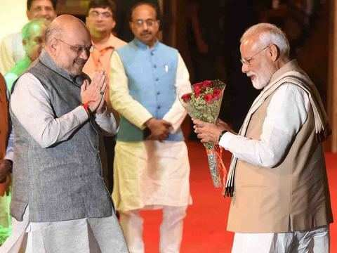 Modi's ministers congratulate him for BJP's landslide victory