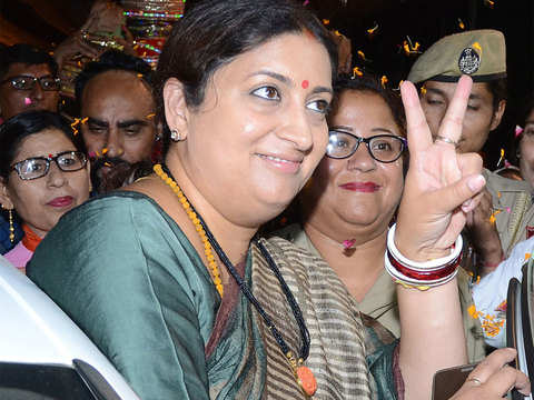 Smriti Irani tweets inspirational poem after Rahul Gandhi concedes defeat in Amethi