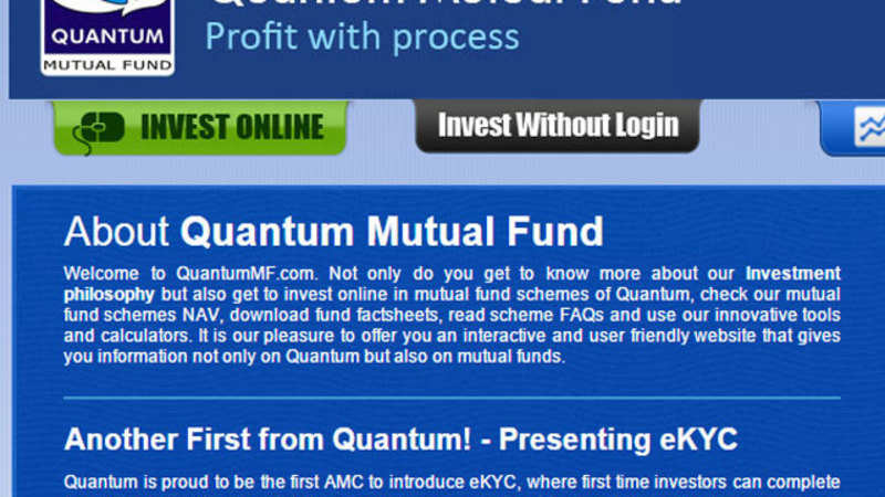 Quantum Mutual Fund launches eKYC, no paperwork or physical
