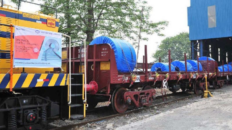 First privately operated freight trains takes off - The Economic Times
