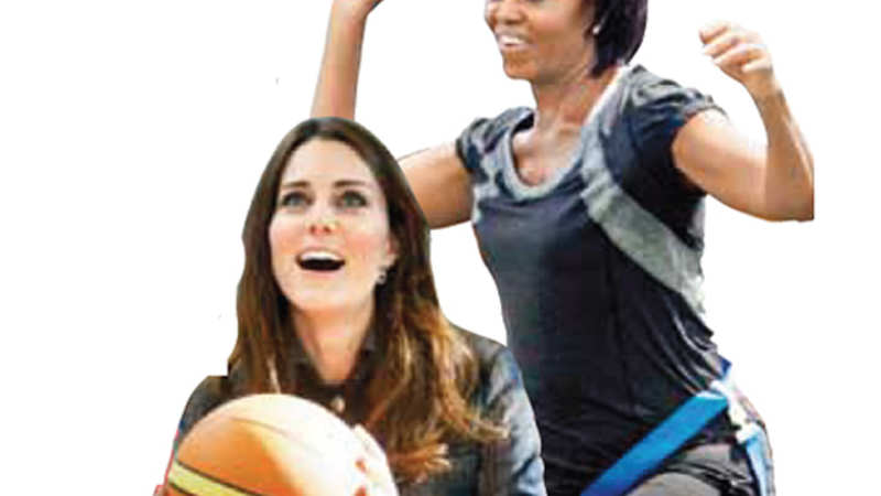 Sporting Spirit: How the first wives Kate Middleton & Michelle Obama