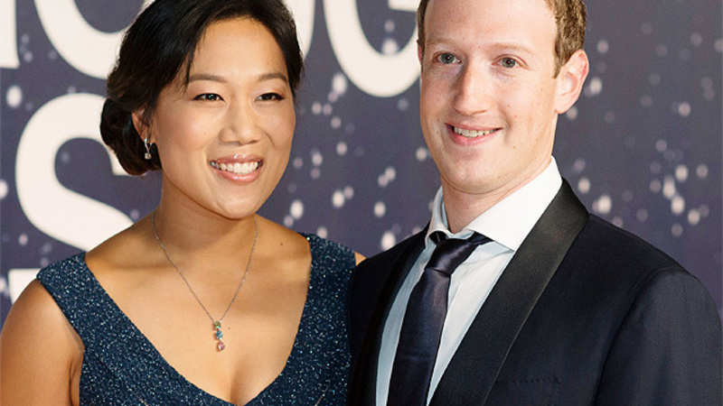 Facebook's CEO Mark Zuckerberg, wife Priscilla Chan