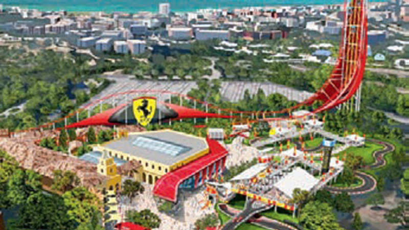 Ferrari land theme park revs up in Spain , The Economic Times