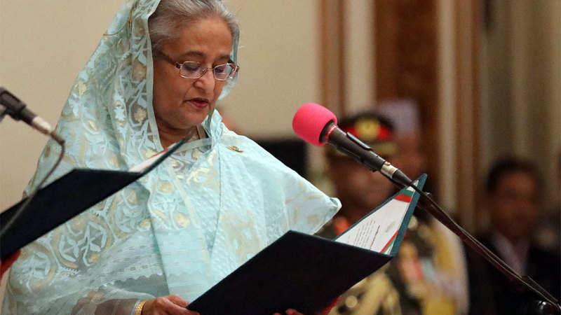 Sheikh Hasina takes oath as Bangladesh PM for third