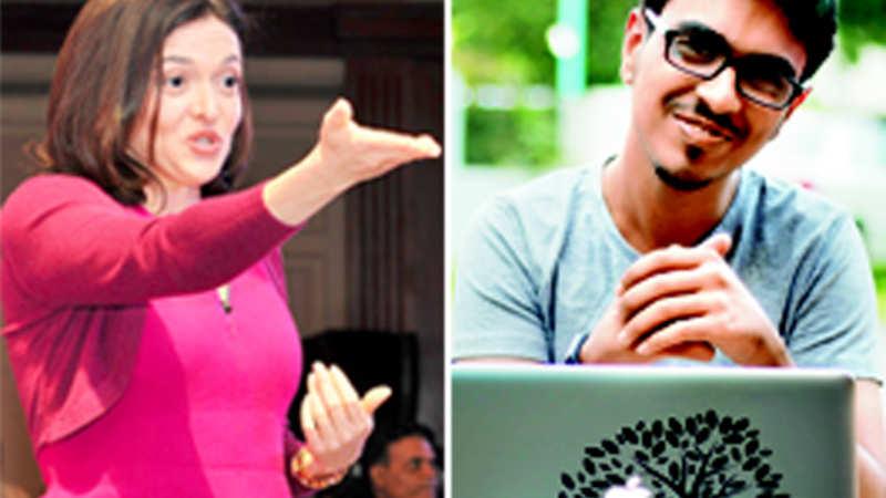 What happened when Sheryl Sandberg complimented Harsh