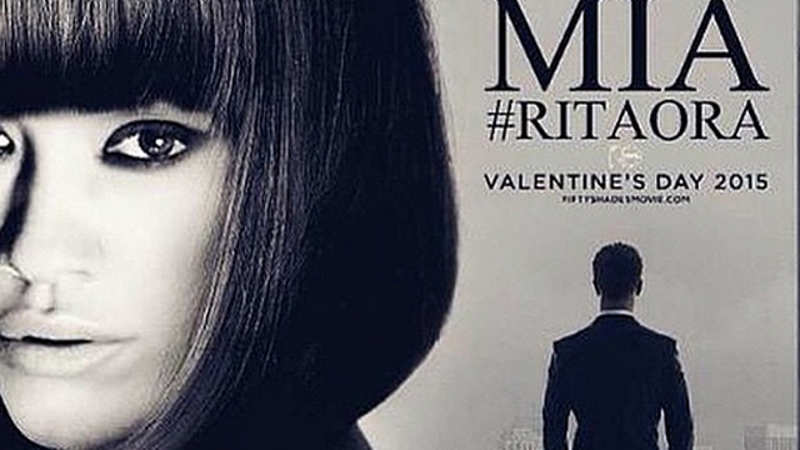 Rita Ora reveals new photo of her 'Fifty Shades of Grey' character
