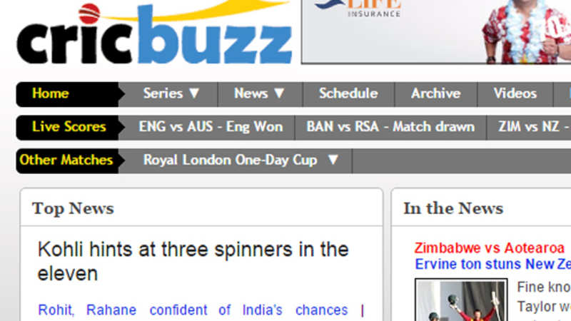 Cricbuzz named title sponsor of Ind-Lanka Test series - The
