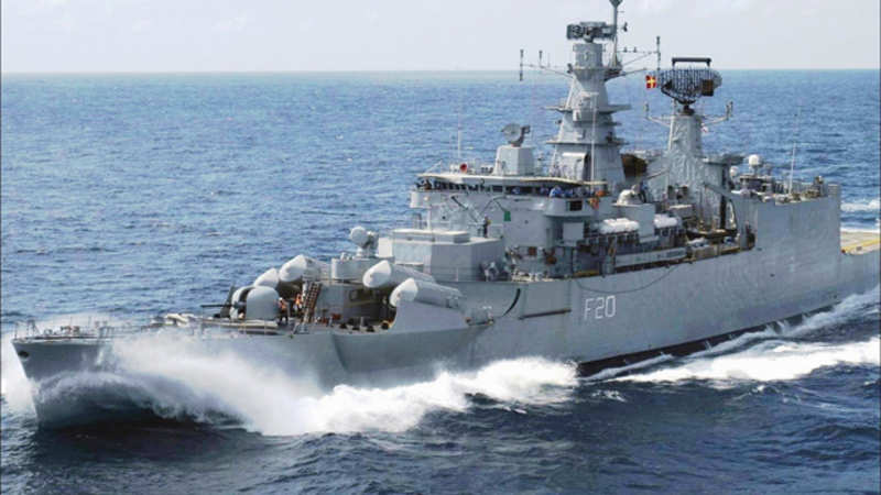 India's first indigenously designed & built frigate INS