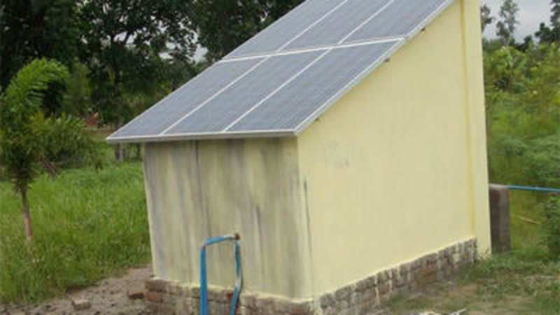 Solar-powered toilet caters to needs of West Bengal village