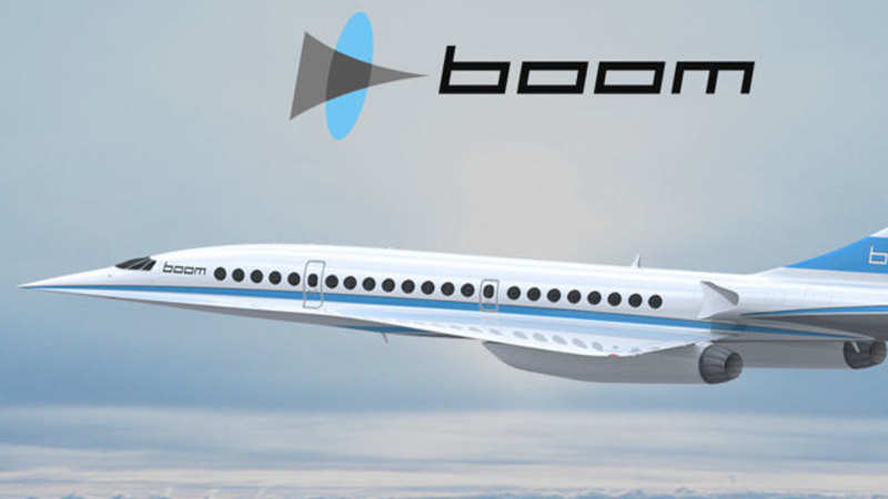 The fastest supersonic passenger airliner Boom XB-1, to be