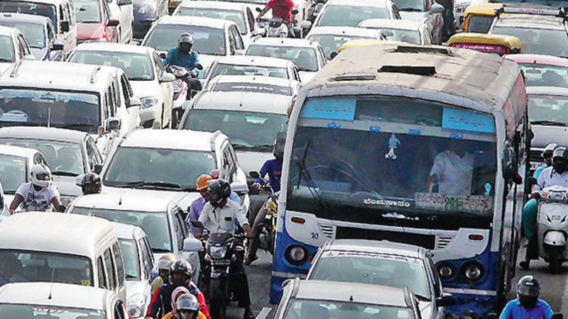 Bengaluru traffic jams: Number of vehicles in Bengaluru
