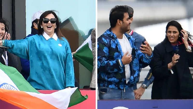 Business royalty turn cheerleaders: When Nita Ambani, Akash-Shloka, Parth Jindal enjoyed Indo-Pak WC game