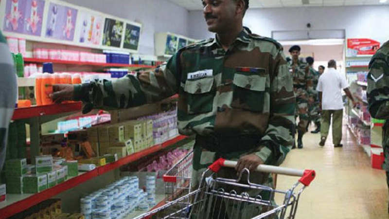 army canteen: Armed forces canteen to get 50 per cent refund
