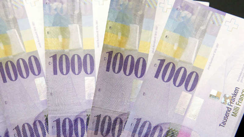 Circulation Of 1 000 Swiss Franc Notes Jumps In Switzerland